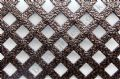 Woven Effect Diamond Aluminium Decorative Grille - Antique Copper 1000mm x 660mm x 1mm